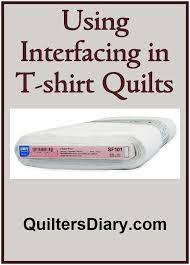 47 best T-shirt Quilts images on Pinterest | Custom quilts, Baby ... & Interfacing in T-Shirt Quilts Adamdwight.com