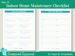 Beautiful {Day 19} Indoor Home Maintenance Checklists