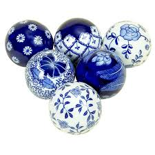 Decorative Balls For Bowls Blue Gorgeous 32 Piece Bleu Decorative Ball Set I have four of these Bleu