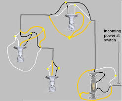 1 switch 3 lights in series powered by the switch electrical how to wire lights in parallel with switch diagram at Wiring Lights In Series