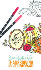 Free Printable Thanksgiving Coloring Page Printable