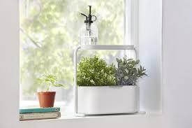 the umbra giardino indoor herb garden set isn t necessarily high tech but