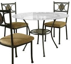 steve silver yn glass top dining table