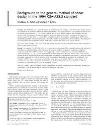 By Shear Design Pdf Background To The General Method Of Shear Design In The