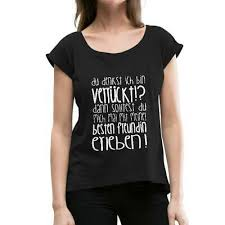 Verrückte Beste Freundin Spruch Frauen T Shirt Mit Gerollten ärmeln