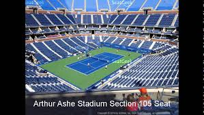 Us Open Arthur Ashe Seating Chart Arthur Ashe Stadium Seating Chart Youtube
