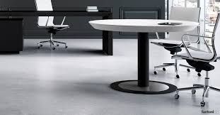 ceo white leather round meeting table
