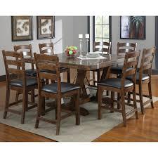 castlegate wood gathering table in distressed medium brown