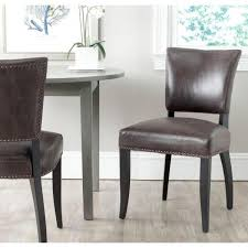desa antique brown and black bicast leather side chair set of 2