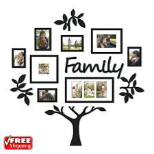 13 piece picture photo frame set family tree collage gallery wall art decor