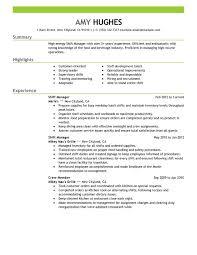 Fast Food Job Description For Resume 13 Assistant Manager Restaurant