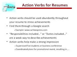 Best Verbs Actions Verbs For Resume Of Action Resumes Best To And Cover Letters