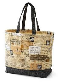 Tote Bag Pattern Extraordinary Canvas Tote Bag Free Sewing Tutorial Love To Sew