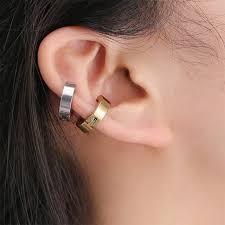 Online Shop Men Women Clip-on Fake Earrings No Pierced Non ...