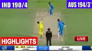 India vs Australia 2nd T20 highlights ...