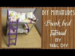 diy barbie doll furniture. today weu0027re making this cute miniature bunk bed is an easy method of doll furniture using paper model and other stuff you may have in diy barbie