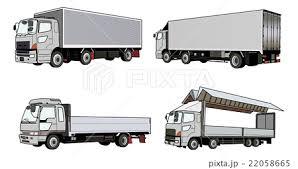 各種トラックのイラスト素材 22058665 Pixta