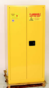 Yellow Flammable Cabinet Eagle Haz Mat Safety Cabinet 55 Gal Yellow Two Door Manual Close