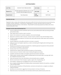 9 Sales Representative Job Description Samples Examples Sample