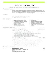 Professional Nurse Resume Template Wikirian Com