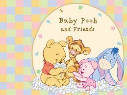 baby winnie the pooh and friends wallpaper
