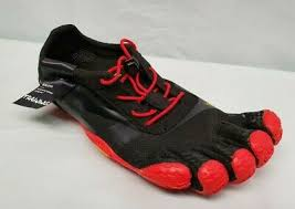 Vibram 18m0701 Mens Kso Evo Black Red Shoes Minimalist Performance Trainers Ebay