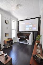 tv projector. james\u0027 beautifully handcrafted apartment in clinton hill tv projector