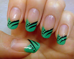 Mesmerizing Design Pink In Green Nail Art Designs Nails Nail Nail ...
