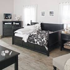 black full size daybed.  Size Full Size Black Wood Daybed With Pullout Trundle Bed And Size U