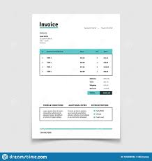 Quotation Invoice Template Paper Bill Form Vector Design Stock