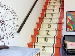 Painted Stairs Entry Hall Mudroom Artistic Art Painted Wooden Stairs Paint