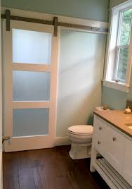 glass barn door hardware. Frosted Glass Barn Door Adds Privacy To Shower Room On Other Side. In Evenings When Light Is It Looks SO COOL! Hardware S