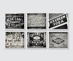 zoom on country kitchen canvas wall art with vintage rustic kitchen decor wall art set of 6 black and