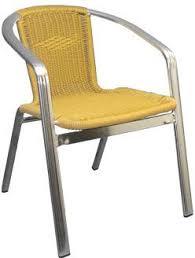 comfortable patio chairs aluminum chair: double tube aluminum amp rattan patio chair