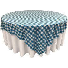round table cloth white and turquoise polyester amazing inch
