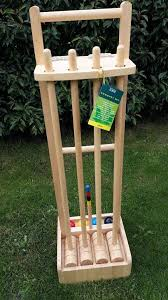 wooden croquet set with stand brand new