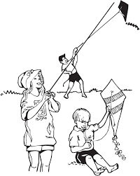 Small Picture coloring pages of child flying kites Trends For Flying Kite