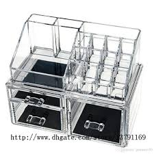 2019 makeup holder multiple display stand cosmetic organizer clear acrylic makeup organizer drawer from pioneer160 16 53 dhgate