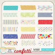 Confetti Brush Photoshop Confetti Washi Tape Cu