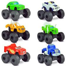 2016 <b>6pcs</b>/<b>set Blaze</b> Monster Machines Toys Vehicle Car ...