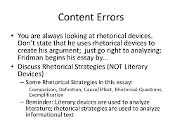 "america needs its nerds"" common errors ppt video online  5 content errors you are always looking at rhetorical devices"