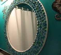 Home Decorating Mirrors Decorate A Wooden Frame Using Glass Beadsfrom Dollar Tree Duh