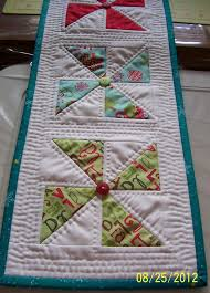535 best chemin de table images on Pinterest | Waterfall braids ... & Colleen's Quilting Journey: Free Pattern - Holiday Pinwheel Table Runner Adamdwight.com