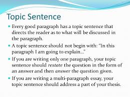 writing using lead ins quotes and lead outs in paragraphs and  topic sentence every good paragraph has a topic sentence that directs the reader as to what