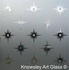 star etched glass panel modern