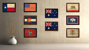 australia country flag vintage canvas print with black picture frame home decor gifts wall art decoration on country style wall art australia with australia country vintage flag home decor gift ideas wall art