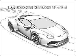 the lamborghini huracan lp 610 4 coloring pages