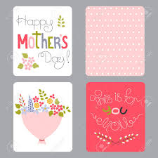 Vector Set Of Small Card Templates Hand Drawn Lettering For