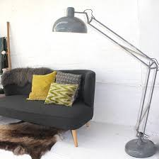 soft grey floor lamp