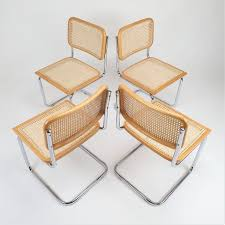 For sale: Set of 4 Tubular Frame & Cane <b>Cantilever dining chairs</b> ...